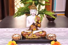 Religious Idols & Paintings Stylish Designer Home Decor Material:  Poly Resin & Marble Dust Size (L X W X H):  20 cm x 10 cm x 18 cm Description:  It Has 1 Piece Of Buddha Statue Country of Origin: India Sizes Available: Free Size   Catalog Rating: ★4.3 (1285)  Catalog Name: Diva Stylish Designer Home Decor CatalogID_319047 C128-SC1316 Code: 854-2385868-