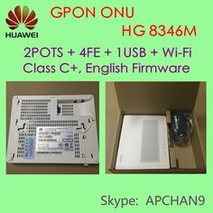 ‪#‎HUAWEI‬ GPON ONT# HG 8346M, 2POTS + 4FE + 1USB + Wi-Fi, Class C+, English Firmware.  ‪#‎Price‬: US$70 . Large stock in store. Welcome to purchase. ^-^ @Skype: APCHAN9