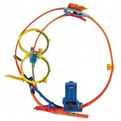 This boosted track set launches cars at top speed for gravity-defying action as they make their way up the 3-foot high loop. Kids can risk it all by taking the hair-raising shortcut that can put them out in front or send them flying off the track.
