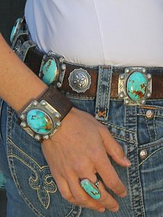 Brit West Turquoise | Maching Cuff and Ring, Awsome!