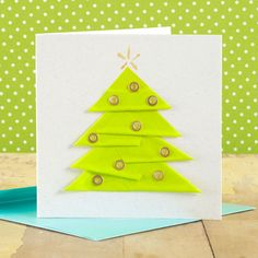 Duct-tape Christmas-tree design on cardstock