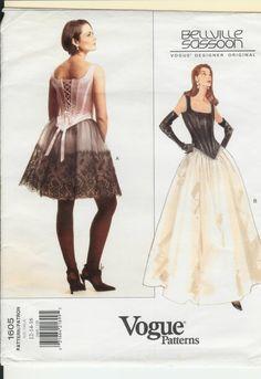 Corset Vogue Pattern Bellville Sasson Retro by designersreserve