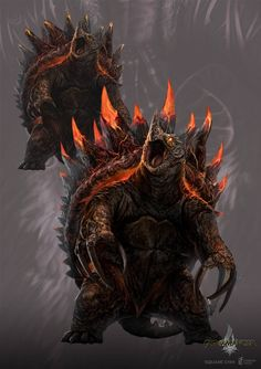 Contemporary Westerns on The-Book-of-Dragons - DeviantArt Monster Art, Monster Concept Art, Fantasy Monster, Monster Design, Mythical Creatures Art, Magical Creatures, Creature Feature, Creature Design, Dark Fantasy Art