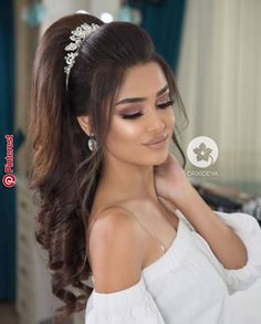 Frisuren - - hair styles for wedding wedding hair styles hairstyles wedding guest hairstyles wedding hairstyles hairstyle Wedding Hair And Makeup, Bridal Makeup, Hair Makeup, Bridal Hair Tiara, Prom Hair Updo, Hair Dos, Hairstyle Wedding, Braid Hair, Bride Hairstyles