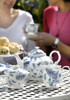 6e2001f6c315 Portmeirion Botanic Blue Teapot - Portmeirion UK Blue China, Scones, Floral  Motif, Sugar