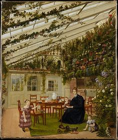 Eduard Gaertner (German, 1801–1877). The Family of Mr. Westfal in the Conservatory, 1836. The Metropolitan Museum of Art, New York. Purchase, funds from various donors, by exchange, 2007 (2007.70) #kids #metkids
