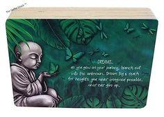 Earthing DREAM Wooden Affirmation Plaque Freestanding Monk Buddha Lisa Pollock Affirmations, Buddha, Lisa, Garden, Decor, Art, Art Background, Garten, Decoration