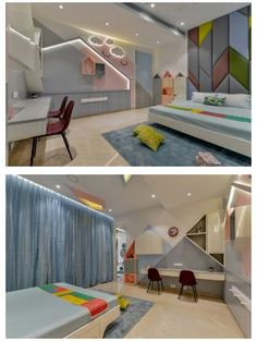 47 Cute Childrens Room Design Ideas That Your Kids Will Like It - Decorating a child's room can turn into an all-out tedious activity if not done correctly. It can also be fun and exciting if there is a plan involved. Modern Kids Bedroom, Kids Bedroom Designs, Bedroom Bed Design, Modern Bedroom Design, Home Decor Bedroom, Luxury Kids Bedroom, Bedroom Ideas, Wood Bedroom, Kids Bed Design