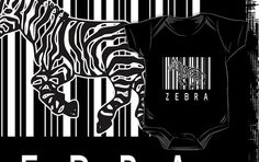 Zebra Bar Code onesie by Samuel Sheats