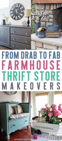 From Drab to Fab Farmhouse Thrift Store Makeovers #Farmhouse, #FarmhouseHomeDecor, #FarmhouseDIY
