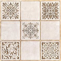 Decorate and paint a faux tile design or random wall art motifs with our Renaissance Tile Stencils Set B. These traditional European tile patterns coordinate wi