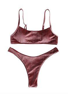 Bralette Bikini, Bikini Set, Two Piece Swimsuits, High Cut, Fashion Brands, Topshop, Velvet, Swimwear, Stuff To Buy