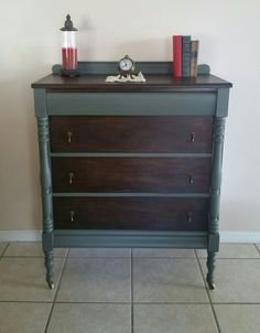 Antique dresser- painted in sherwin williams cast iron paint
