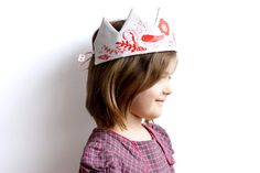 Flower Crown ~ Sewing kit ~ Red Fabric Crown ~flowers and bird ~ diy toy for children ~ princess