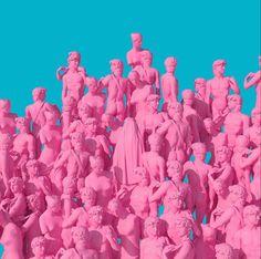 Colorful Surreal Scenes By Artist Lee Sol Bar Lounge, Art Pop, Vaporwave, Sculpture Art, Sculptures, Plastic Art, Glitch Art, Art Model, Surreal Art