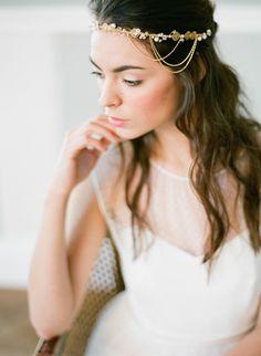 Headband de mariage – Victoria Couronne, Headband, serre-tete, bijoux de tête,  Bijoux de mariée ethnique, antique vintage chic et bohème Orchidée de Soie