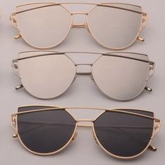 Gold/Black Aviator Sunglasses Price drop! High quality! SHIPS ASAP!  New in package and ships today. This listing is for GOLD/BLACK.  Cut out retro metal cat eye sunnies. Solid black also available - just ask me!  No trades. Boutique Accessories Glasses