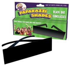 It'S A Facebook World, And 9999% Of People Use Facebook - Big Mouth Toys Paparazzi Shades by Big Mouth Toys. $30.19. These fun novelty sunglasses come in an attractive POS box. These are the perfect gag gift for a face book lover, as it shields the identity of the person in the photo. It's a Facebook world, and 9999% of people use Facebook. Big Mouth Toys Paparazzi ShadesIt's a Facebook world, and more people than not use Facebook. These are the perfect gag gift fo...