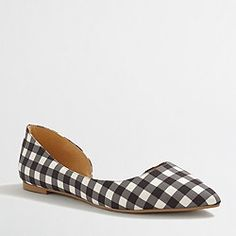 Factory classic d'Orsay flats in gingham