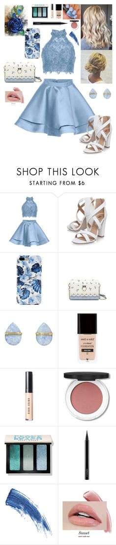 """Untitled #501"" by stilinskiismybatman ❤ liked on Polyvore featuring Alyce Paris, Miss KG, Melissa Joy Manning, Bobbi Brown Cosmetics, MAC Cosmetics and Eyeko"