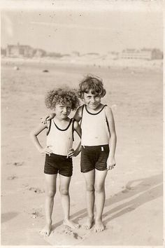 pinner wrote -My mother (on the left) and her sister, 1930, Berck Plage, France.