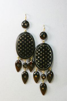 Antique French Pique Earrings