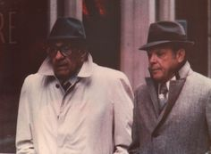 Arrcado (L) ran the Outfit after Frank Nitti committed suicide in but his career as a gangster started around the time of the 1929 St. Valentine's Massacre and spanned eight decades, through the Reagan era. Real Gangster, Mafia Gangster, Gangster Girl, Frank Nitti, Italian Mobsters, Famous People In History, Mafia Crime, Chicago Outfit, Chicago Street