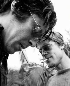 Benicio Del Toro and Brad Pitt