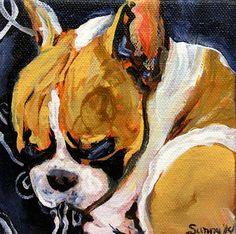 """Daily Paintworks - """"Smoochie Face Jr."""" - Original Fine Art for Sale - © Sunny Avocado"""