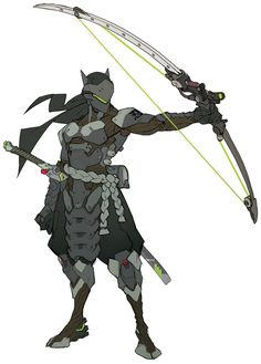 Hanzo early Development that turned into two characters, Hanzo and Genji- Overwatch Wiki