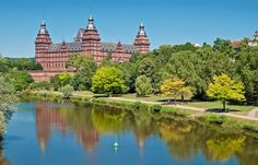 Schloss Johannisburg, located in the Bavarian town of Aschaffenburg in Franconia.