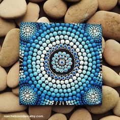 Water Art Aboriginal Dot Art Hand Painted por RaechelSaunders