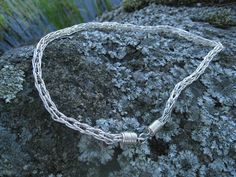Necklace: silver chain, double loop-in-loop 2014 Chain, Bracelets, Silver, Jewelry, Jewlery, Jewerly, Necklaces, Schmuck, Jewels