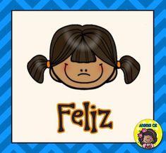 LAMINAS PARA TRABAJAR LAS EMOCIONES (2) Feelings And Emotions, School Pictures, Teacher Hacks, Teaching Spanish, Head Start, School Counseling, English Vocabulary, Classroom Decor, Quilt Patterns