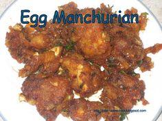 Padma's Recipes: EGG MANCHURIAN