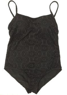 Catalina Medium One Piece Swimsuit Black Cut Out Laser Detail Womens  | eBay