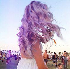 Amazing purple summer hair!