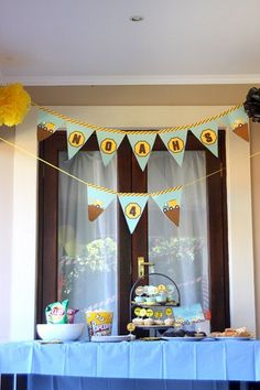 CONSTRUCTION Birthday Personalized Bunting by littlebirdieprints, $15.00