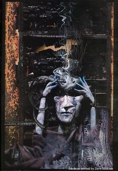 Sandman artwork by Dave McKean Visit: http://angelakamcomicart.wordpress.com/