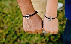 DAD/SON matching stamped bracelets Small by InformalElegance