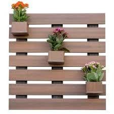 Resultado de imagen para floreiras de madeira de parede