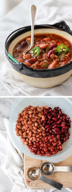 Killer Beef and Three Bean Chili has 2 secret ingredients for max flavor: beer and enchilada sauce | foodiecrush.com