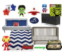 The Avengers Nursery, created by bellatrixles22 on Polyvore