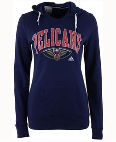 adidas Women's New Orleans Pelicans Mesh Arch Hooded Sweatshirt