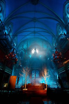 I don't want to get married in a church, but I want my venue to have this dark and intimate kind of feel :) Very romantic and vampirish!