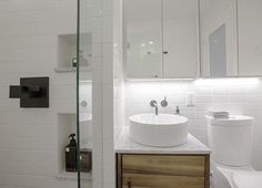 Before & After: A Sleek New Look for a Compact Brooklyn Bathroom — Sweeten   Apartment Therapy