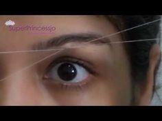 Eyebrow Upperlip Threading Tutorial,Remove Unwanted Facial Hair in Women SuperPrincessjo