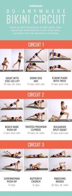 POPSUGAR Do-Anywhere Bikini Circuit Workout