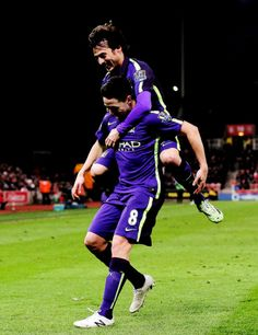 David Silva, Samir Nasri. Manchester City.