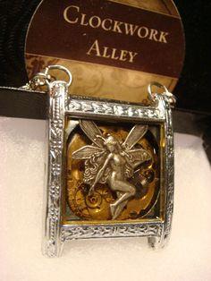 Steampunk Clockwork Fairy Movement Pendant by ClockworkAlley